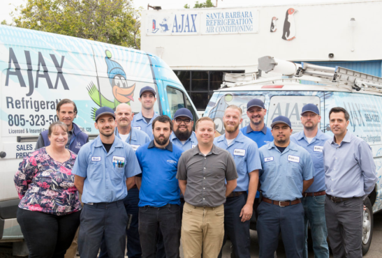 ajax-refrigeration-crew-with-vans