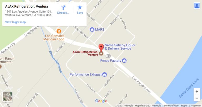 ajax Ventura map