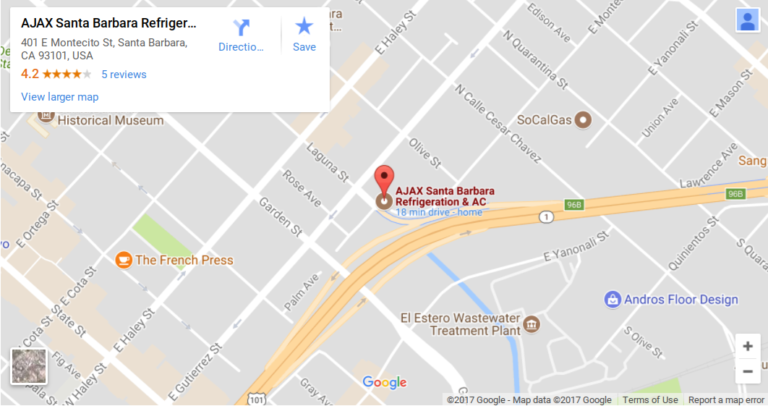 Ajax Santa Barbara Map